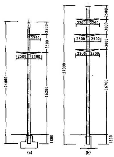 110KV单、双回路杆型图