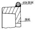图1 在跑轮上焊圆钢校正圆度