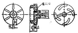 送浆泵叶轮结构示意图