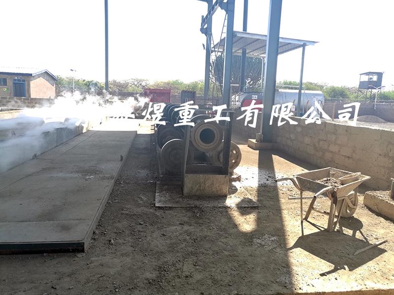 中国路桥肯尼亚电杆生产线