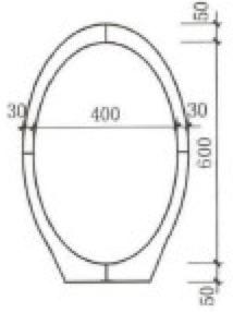 图1 椭圆管截面定型示意