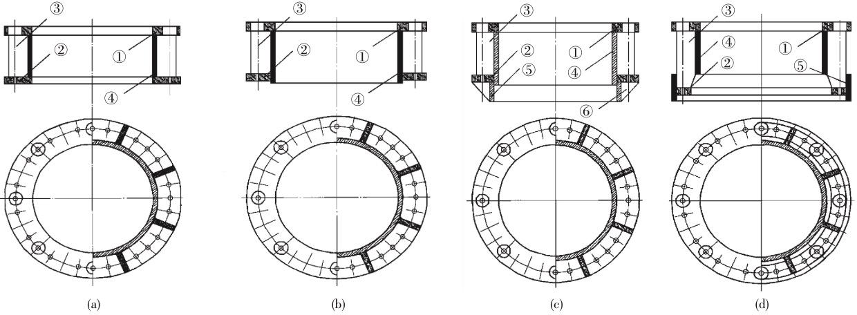 几种常用预应力电杆法兰联结形式