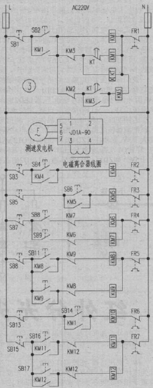 水泥制管机组电力控制电路