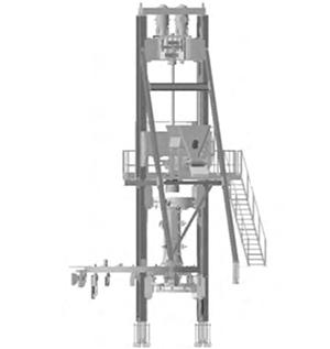 立式径向挤压制管机结构示意图