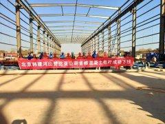 韩建河山赞比亚公司首根混凝土电杆成功下线